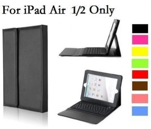 UK Leather Case Cover with Bluetooth Wireless Keyboard for iPad 5,6 iPad Air 1/2